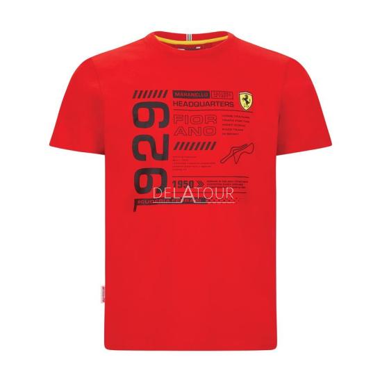 Scuderia Ferrari InfoGraphic T-shirt Red