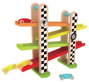 Classic World Wooden F1 Racing Track
