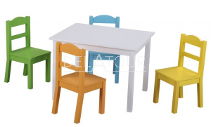 Classic World Wooden Table & 4 Chairs