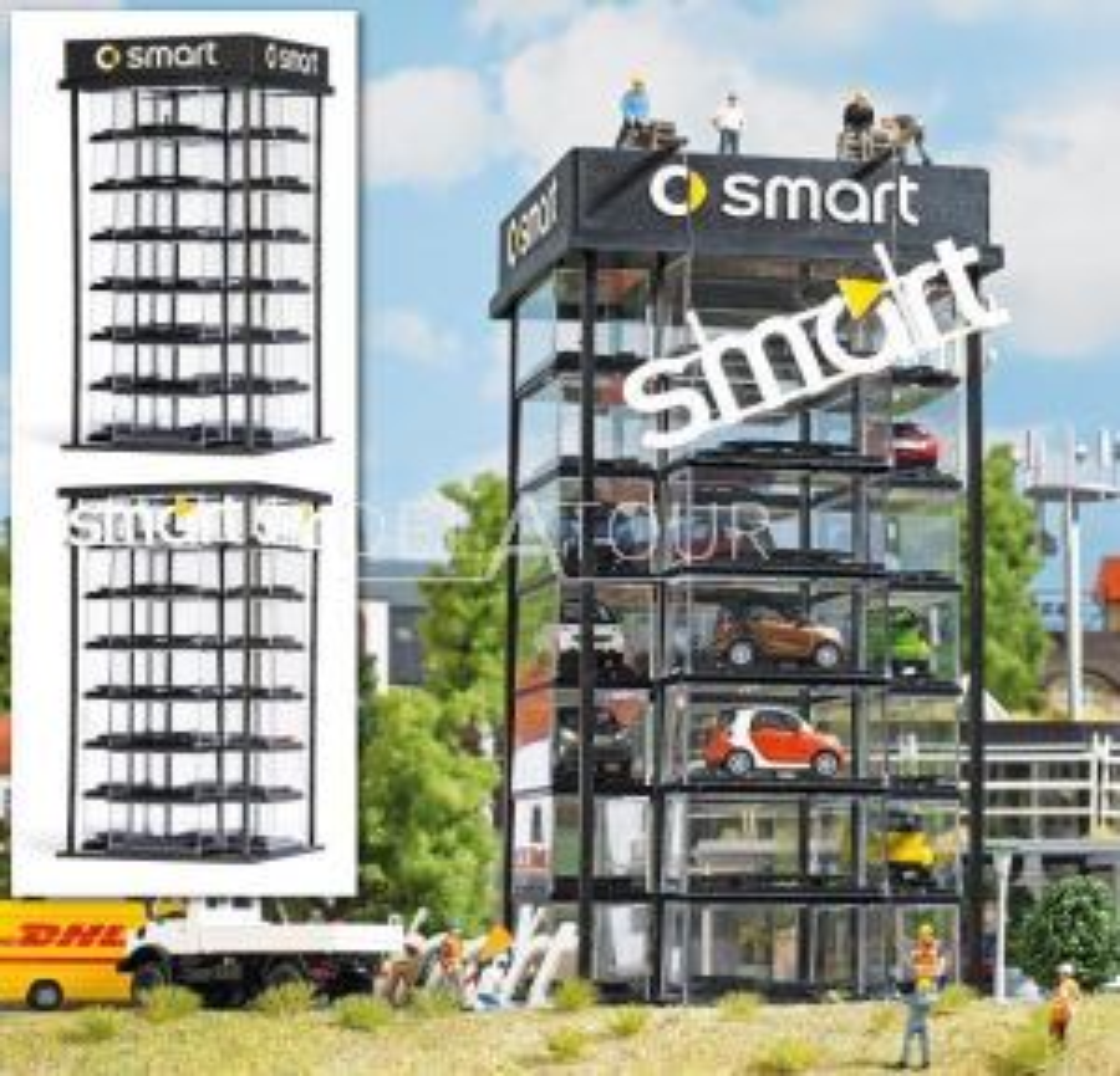Smart Car tower Kit HO