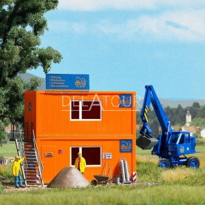 Two Construction Site Containers Set HO