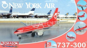 New York Air 737-300 Vintage with Clear Box