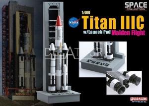 Space Titan III C With Launch Pad Maiden Flight