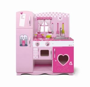 Classic World Wooden Kitchen Pink