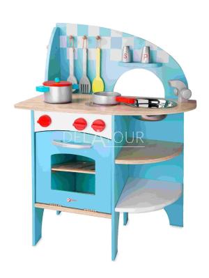 Classic World Wooden Kitchen Blue