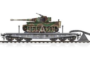 Schwere Plattformwagon & Tiger I Mid
