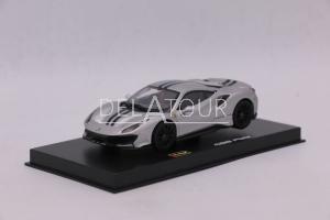 Ferrari 488 Pista Silver/dark Blue