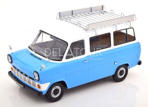 Ford Transit Bus 1965 with Roof Rack Blue/White