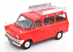 Ford Transit Bus 1965 Red with Roof Rack