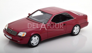 Mercedes-Benz S-Class 600SEC Coupe 1992 Red