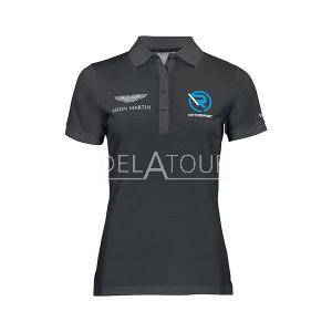 Aston Martin Ladies Polo Shirt Grey