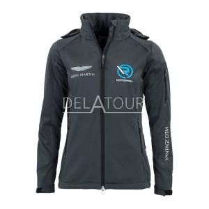 Aston Martin Ladies Softshell Jacket Grey