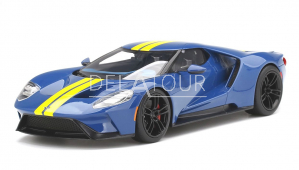 Ford GT In Sunoco Blue with Yellow Stripes