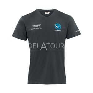 Aston Martin Men V-Neck T-shirt Grey