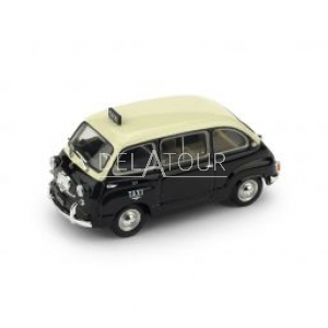 Fiat 600D Multipla Taxi Genova 1964 Black/Ivory