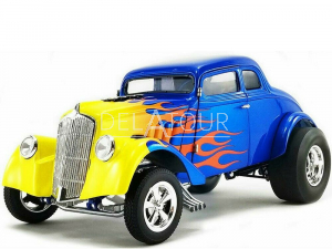 Ford Willys Gasser Custom 1933 Blue/Yellow