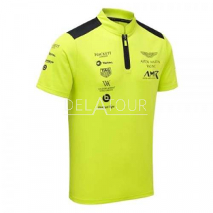 Aston Martin Team Polo Men, Lime Green