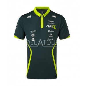 Aston Martin Men Team Polo British Green